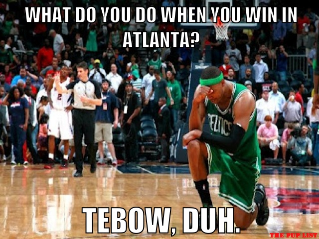 What follows a win in Atlanta? Obviously a Tebow.
