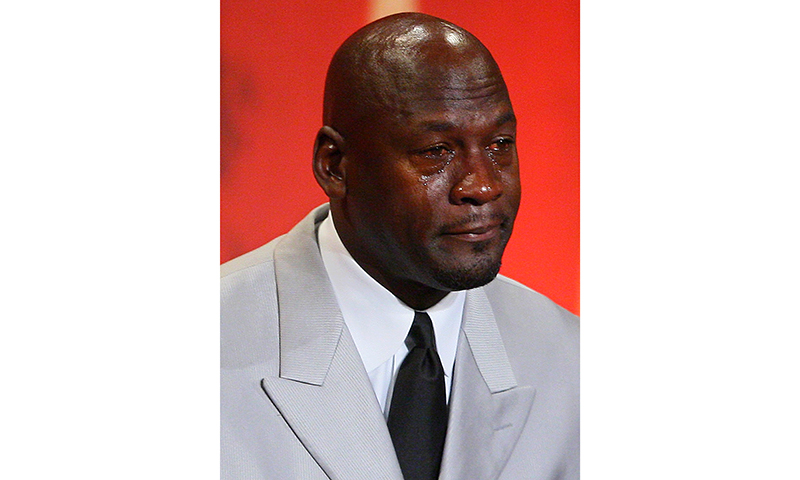 crying MJ