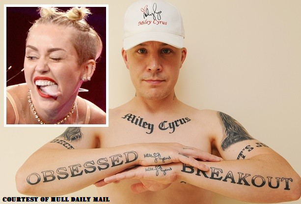 Guy Wants To Get His 29 Miley Cyrus Tattoos Removed Because He Can T Get A Girlfriend The Pup List