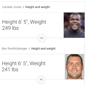 cardale height weight
